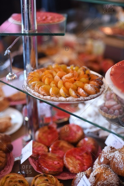 Close-up of pastries at a boulangerie