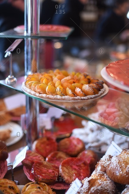 Close-up of pastries at a patisserie