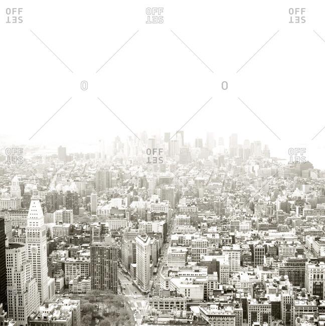 Ariel view of Manhattan, New York