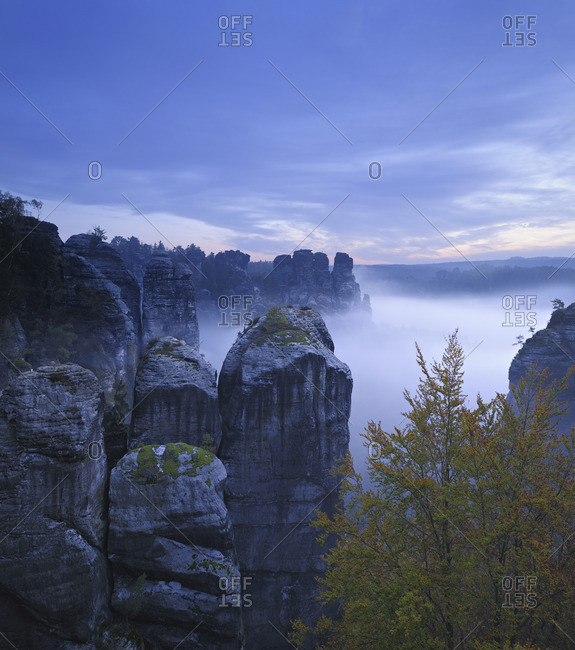 Elbe Sandstone Mountains, in Saxony, Germany