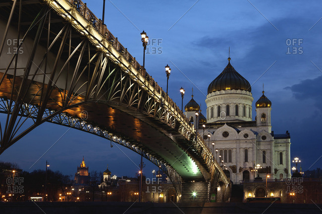 Night view of the Cathedral of Christ the Savior, Moscow