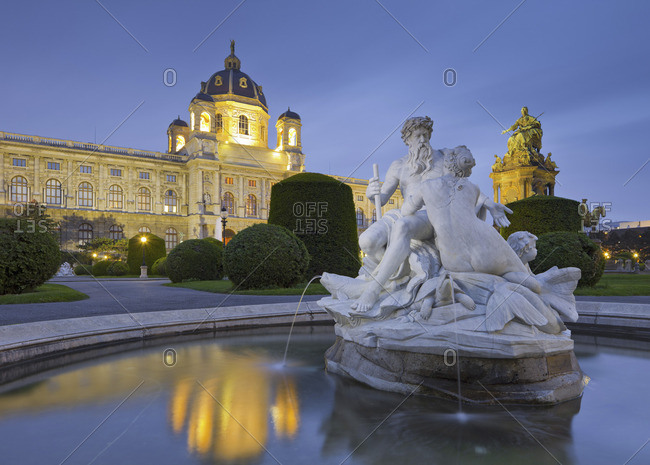 Vienna, Austria - May 15, 2010: Night view of the Museum of Art History