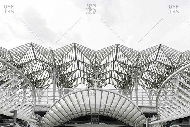 Lisbon, Portugal - March 15, 2011: Architectural details of Oriente Station