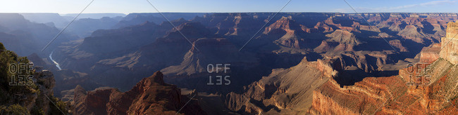 Panoramic view of the south rim of the Grand Canyon, USA