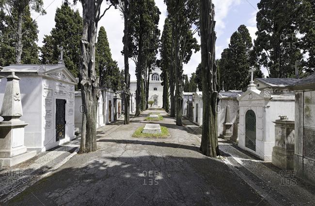 "Lisbon, Portugal - March 15, 2011: Prazeres Cemetery ""Cemetery of Pleasures"""
