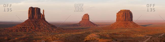 Panoramic view of Monument Valley, Arizona, USA