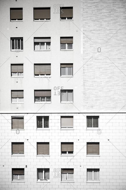 Graphic facade of a building