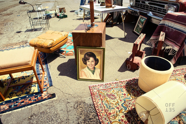 May 4, 2014: Items for sale at a flea market