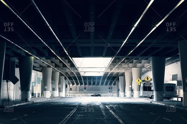 Exit from underground parking garage