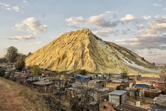 - August 24, 2013: Impoverished village below mountain in desert