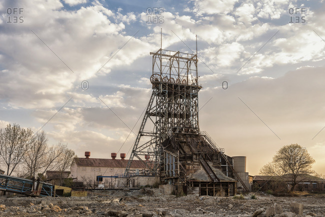 Remains of an old desert mining operation
