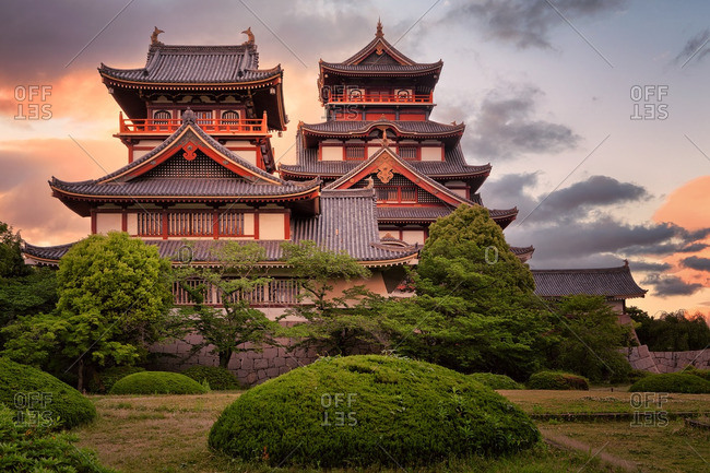 Fushimi Castle at sunset, Kyoto, Japan