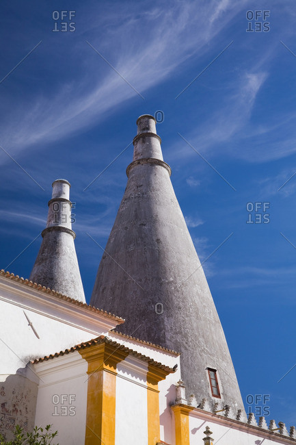 Chimneys of the Sintra National Palace, Sintra, Portugal