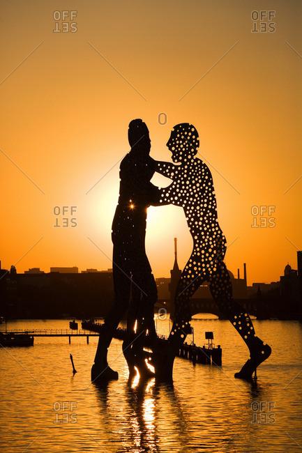 Berlin, Germany - May 20, 2011: Molecule Man sculpture