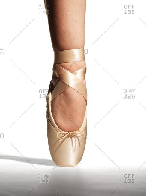 Ballerina's foot en pointe