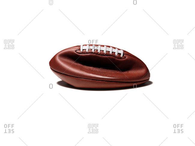 A deflated football