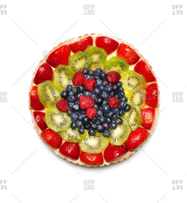 A round fruit tart