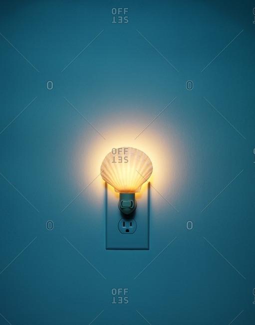 Night light in wall plug