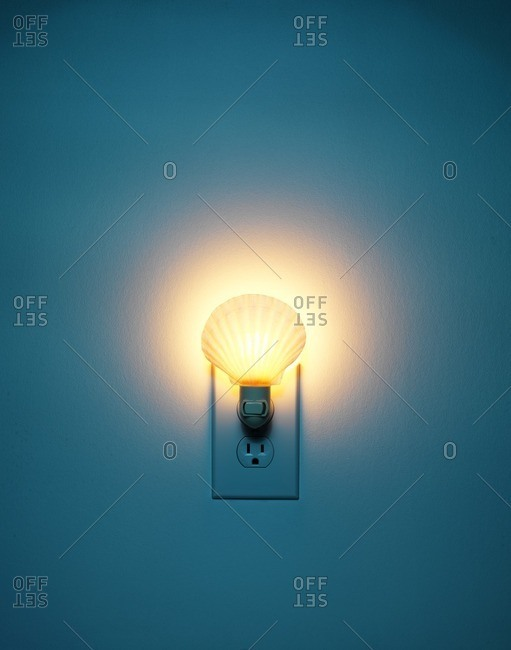Night light in wall socket
