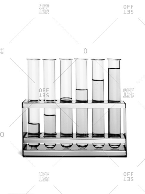 Test tubes with water