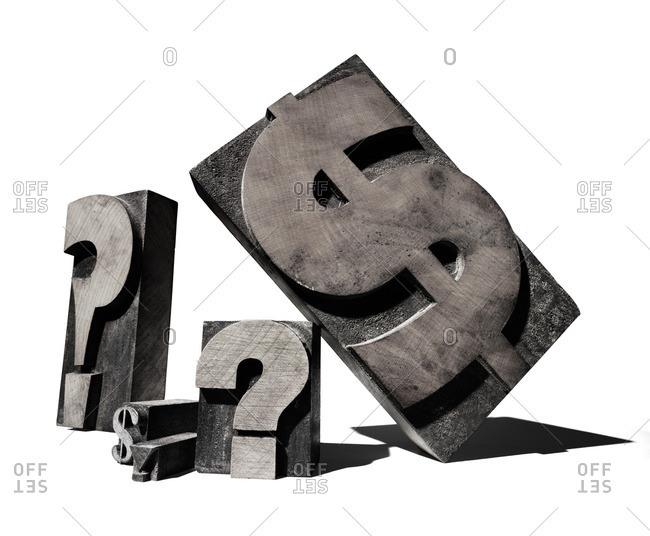 Symbols for printing press