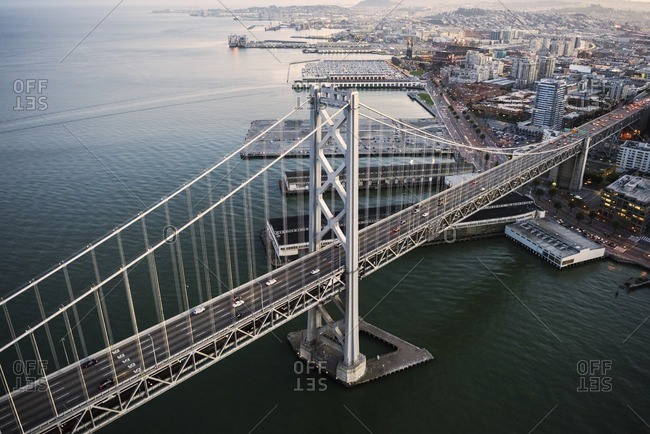 Aerial view of Bay Bridge