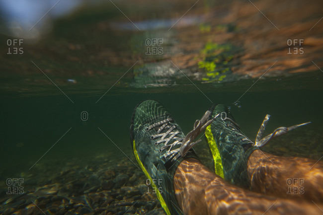 Two feet underwater in Lake Pend Oreille, Sandpoint, Idaho