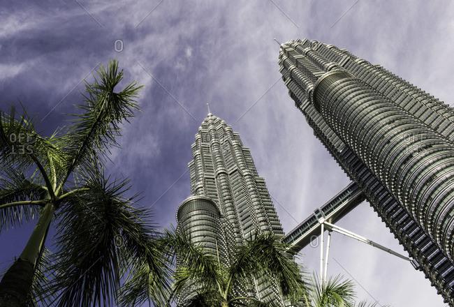 Kuala Lumpur, Malaysia - June 19, 2013: Petronas Towers in Kuala Lumpur, Malaysia