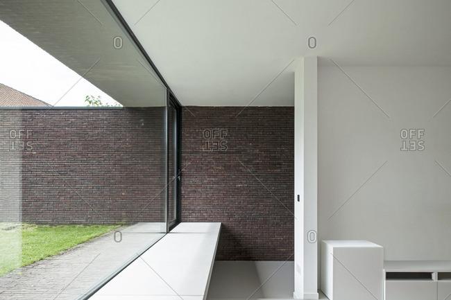 Basel, Belgium - August 1, 2012: A contemporary home interior in Basel, Belgium