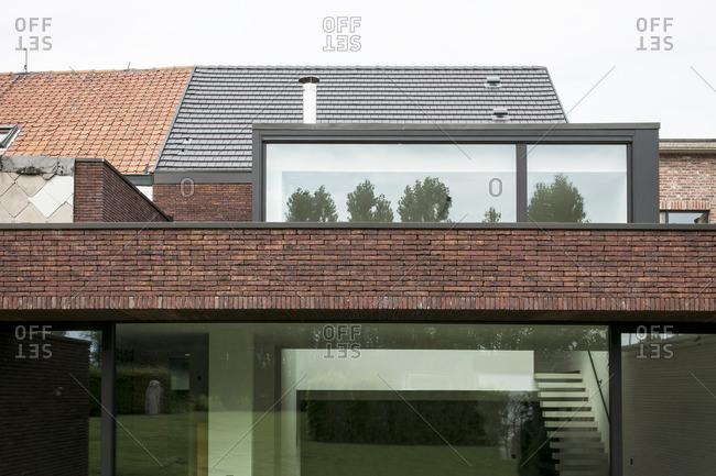 Basel, Belgium - August 1, 2012: A contemporary home facade in Basel, Belgium