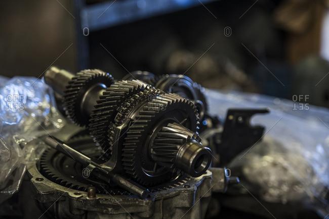 Close-up of automotive part - Offset