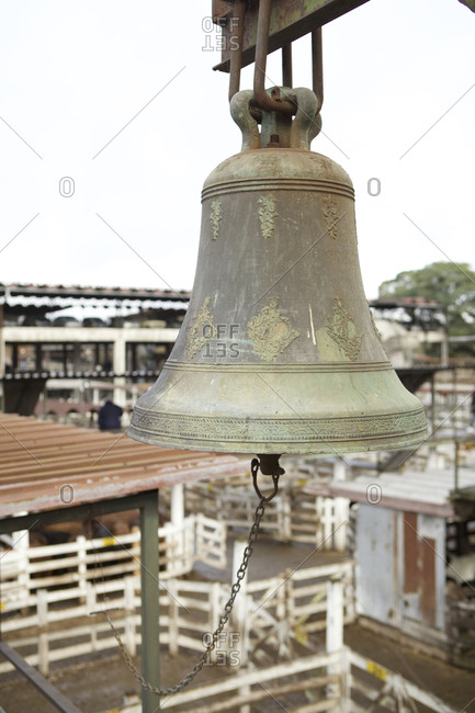 Auction bell at the National Cattle Market, Buenos Aires, Argentina