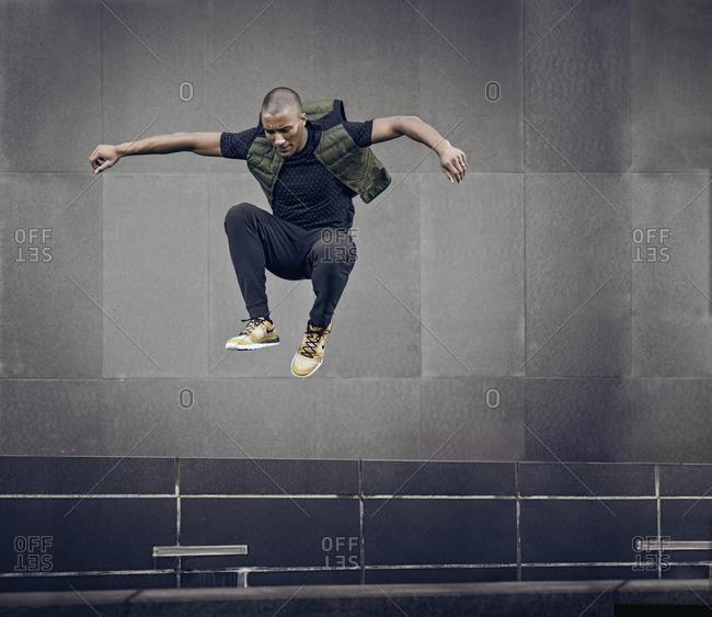 February 8, 2016: Olympic Athlete Ashton Eaton in vertical jump
