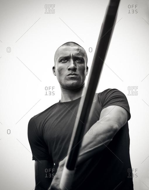 May 6, 2015: Olympic Athlete Ashton Eaton with vaulting pole