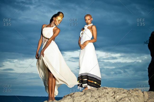 April 28, 2012: Two women on a mountain