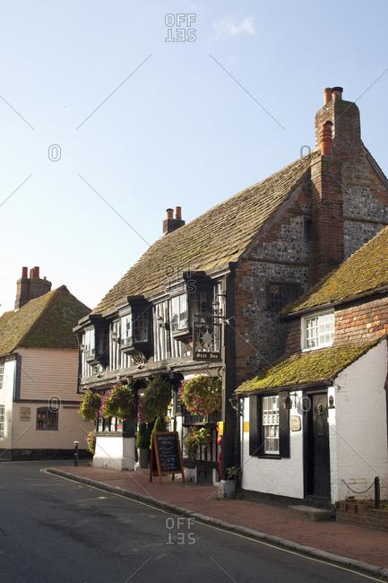 Alfriston, England - October 16, 2010: The Star Inn in Alfriston, England