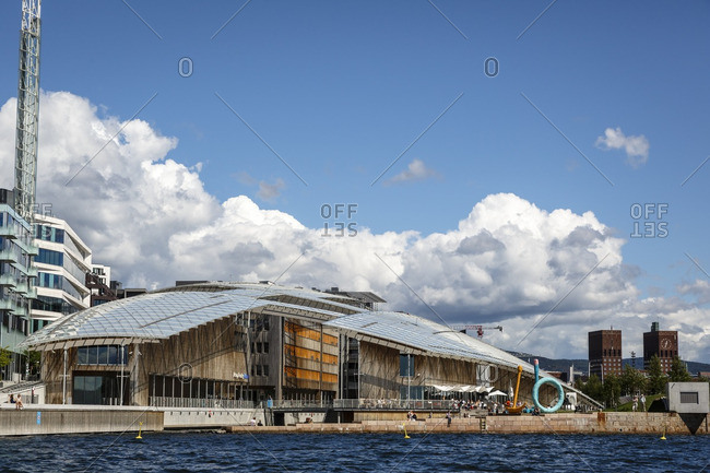 Oslo, Norway - June 28, 2016: The Astrup Fearnley Museum in the Tjuvholmen Icon Complex, Aker Brygge, Oslo, Norway