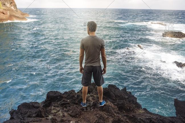 Man on a sea overlook