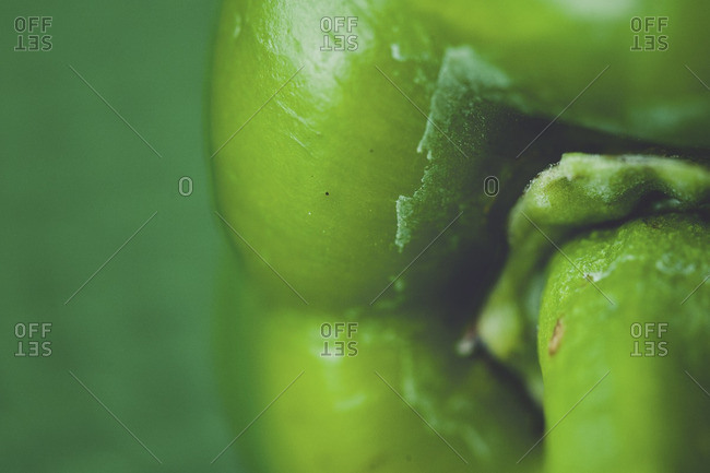 Close-up of a green bell pepper