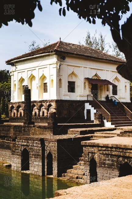The Safa Masjid, a small mosque near a rural village, outside of Panjim in Goa, India