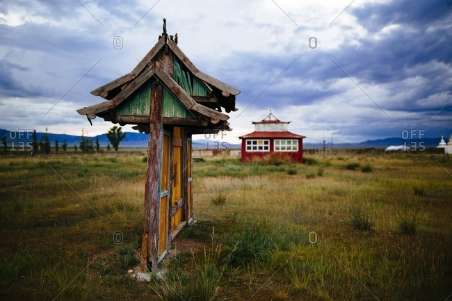 A small temple complex in rural Murun, Mongolia
