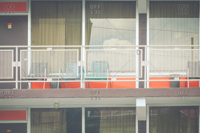 Balcony of an older motel