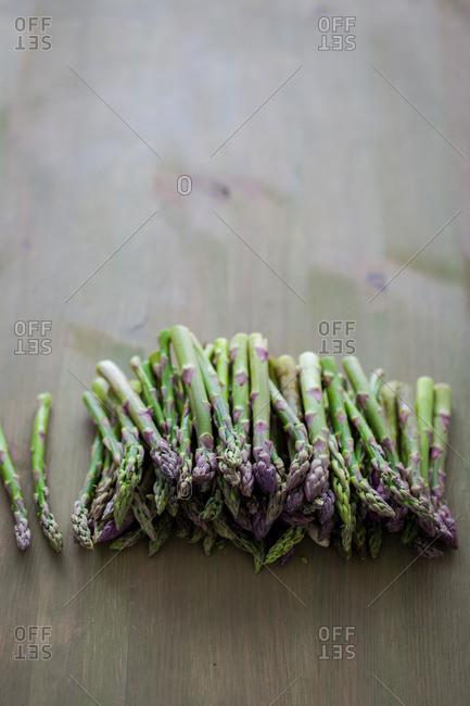 Asparagus on a table
