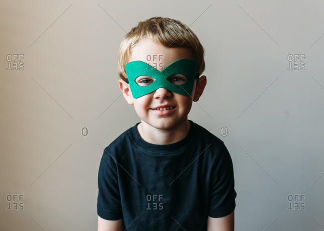 Portrait of boy in a mask