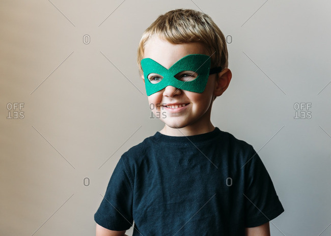 Portrait of a boy in a mask