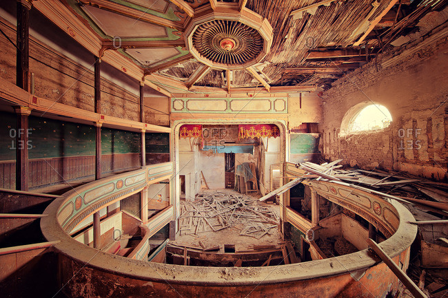 Interior of an abandoned theater