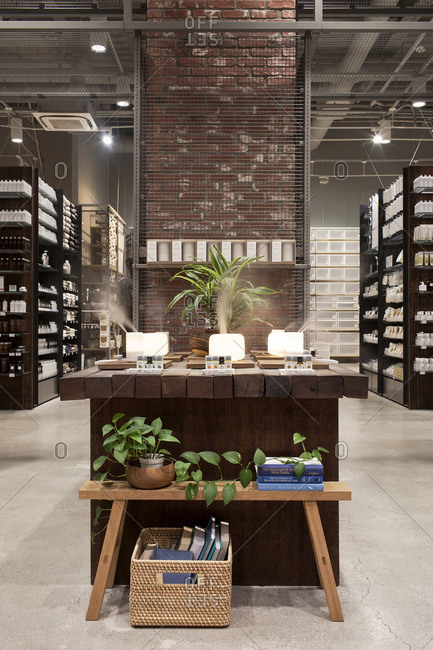 May 26, 2015: Interior of a warehouse type store with bath products