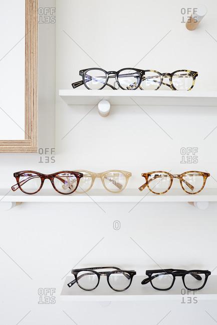 May 28, 2015: Eyeglasses displayed on shelves