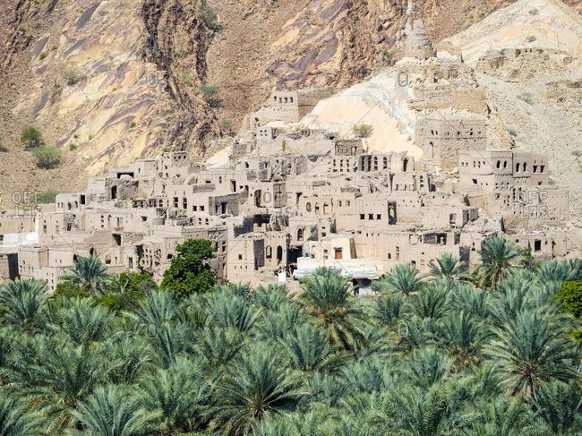 Oman- Ad-Dhakiliya- Al Hajar al Gharbi Mountains- mountain village Birkat al Mawz