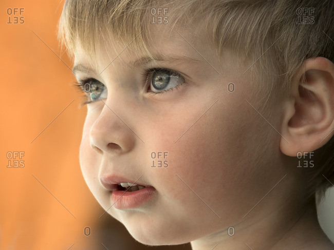Portrait of toddler- close-up
